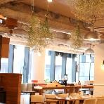 cafe104.5:会場内をかすみ草で装飾