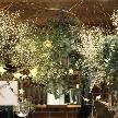 cafe104.5:星をテーマにした会場造花