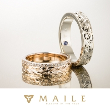 MAILE_18K Flat Ring / 18Kフラットリング