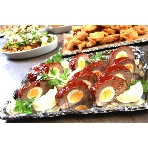 GRAHM'S CAFE ‐Los Angeles‐(グラムズカフェ):コースのメイン料理例 ミートローフは食べ応え抜群です。