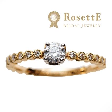 Gran-D (グランディー):指名来店人気1位!お洒落で可愛い婚約指輪《RosettE》しずく★