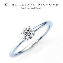 ジュレマスダ_【ラザールダイヤモンド】エンジェルエンゲージ薬指にダイヤモンドだけが光る様な…