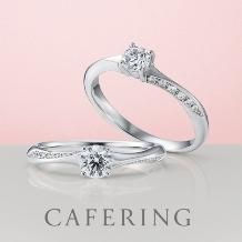 ジュエリー・ウォッチブティックIKEDAプラス_[CAFERING]繊細なラインにメレダイヤが流れるように輝く ノエルブラン