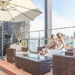 THE SKY Resort Lounge:姉妹店【THE TERRACE】開放的なテラスが人気です♪
