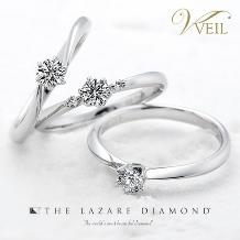 VEIL(ヴェール):【VEIL婚約指輪人気No.4】ラザールダイヤモンド/凛とした気高い美しさ