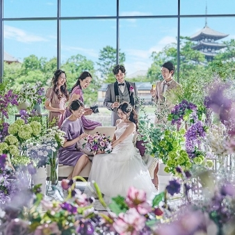 KOTOWA 奈良公園 Premium View:【本番直前コーディネート体験】ゆったり見学×大和フレンチ試食