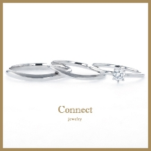 Connect(コネクト)●SECOND TOWNグループ_【3本セット】婚約指輪・結婚指輪が3本セットで15万円!
