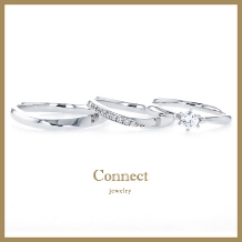 Connect(コネクト)●SECOND TOWNグループ_【3本セット】婚約指輪・結婚指輪が3本セットで20万円!