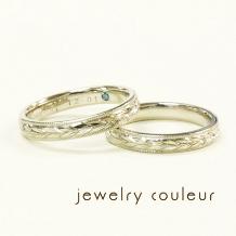 手づくり指輪工房 jewelry couleur(ジュエリークルール)_落ち着いた雰囲気に◆月桂樹の彫り模様_038