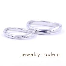 手づくり指輪工房 jewelry couleur(ジュエリークルール)_シンプルなデザインにこだわりを重ねたこんやく結婚指輪_087