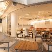 Wedding space hanami 表参道:解放感のあるテラス席。フルオープンでのパーティーも、とても良いです。