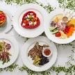 Wedding space hanami 表参道:女性にとっては嬉しいお野菜たっぷりのメニュー。