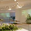 Wedding space hanami 表参道:高砂台からもプロジェクターからの映像が見えます♪どの位置からも映像をお楽しみいただけます^^