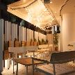 Wedding space hanami 表参道:テラス席のライティングもムードが出ますね。