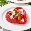 Wedding space hanami 表参道:食材ひとつひとつ、しっかりと吟味させていただいております
