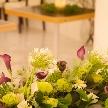Wedding space hanami 表参道:ふたりの想いを表す装花も、ご要望にお応えいたします