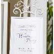 Wedding space hanami 表参道:当店指定のデザインでお客様のウェルカムボードも作成♪