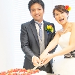 Wedding space hanami 表参道:お二人のケーキカットはメインイベントの一つです。