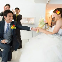 Wedding space hanami 表参道:サプライズ大成功!新婦様の笑顔が素敵です…