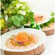 Wedding space hanami 表参道:お食事もおしゃれにご提供いたします。