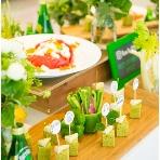Wedding space hanami 表参道:ピンチョスタイプのカジュアルなメニューも。