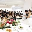 Wedding space hanami 表参道:セカンドバイトもみんなの前で。