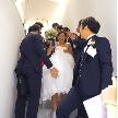 Wedding space hanami 表参道:お見送りのあとプチギフトのお渡しへ…