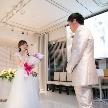 Wedding space hanami 表参道:サプライズの花束を受け取って感謝のお言葉