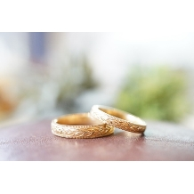 HF&Co_【フルオーダー:ローリエ】おしゃれだけど被らない!ミル×手彫りのトレンドリング☆