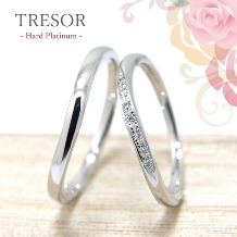 TRESOR (トレゾア)_Melodie 旋律 緩やかな曲線が指元を美しく流れるダイヤが洗練させた輝きを