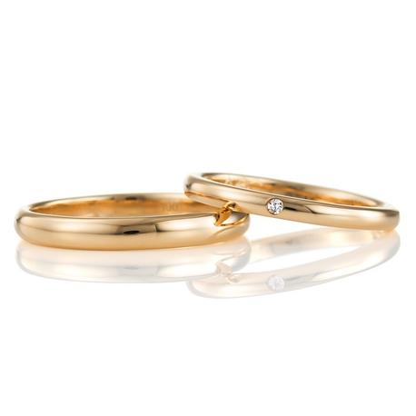 結婚指輪手作り.com:結婚指輪手作り.com (K18ゴールドの甲丸リング)