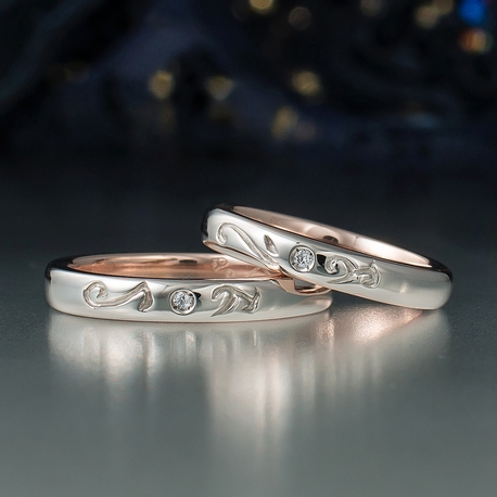 結婚指輪手作り.com:結婚指輪手作り.com(彫りをあしらった手作り結婚指輪)