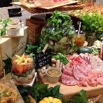 OMOTESANDO CAFE:見た目もおいしいお料理の数々(写真は姉妹店のものになります)