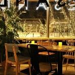 OMOTESANDO CAFE:夜の雰囲気は抜群!ゲスト様も忘れられない二次会になります♪