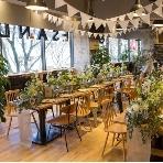 OMOTESANDO CAFE:ガラス張りなので解放感抜群!並木通りを見渡せます。
