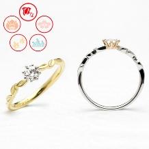 JEWELRY&WATCH GraL_【ひな】繊細なデザインが人気のリング(金色の葉)