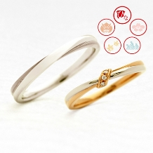 JEWELRY&WATCH GraL_【ひな】幸せのモチーフとゴールドの色合いが可愛いリング(束ね)