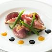 Alice aqua garden 田町:イチチグと鴨ローストの前菜
