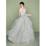 S.eri Wedding Dress Shop:【ガーデンウエディングにオススメ!】軽やかなスモーキーグリーンドレス