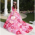 Atelier Felice:【小さな頃から憧れていたお花畑ドレス♪】ゴージャスさを演出したい花嫁へ