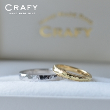 CRAFY(クラフィ)_☆ふたりで作る☆結婚指輪PT900&K18YG