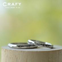 CRAFY(クラフィ):☆ふたりで作る☆結婚指輪PT900