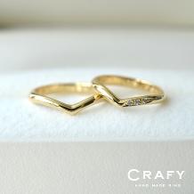 CRAFY(クラフィ):☆ふたりで作る☆結婚指輪K18YG