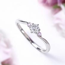 Jewelry Studio PLUSTER(ジュエリースタジオプラスター)_プラスター宮崎エンゲージリング(婚約指輪)プラチナダイヤモンドピンクダイヤ