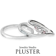 Jewelry Studio PLUSTER アミュプラザみやざき店:プラスター宮崎マリッジジリング(結婚指輪)プラチナダイヤモンドDear900