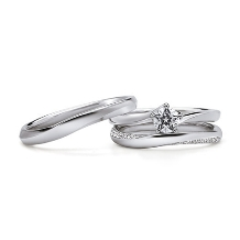 Jewelry Studio PLUSTER アミュプラザみやざき店:Wish upon a star Pt950 マリッジリング(結婚指輪)