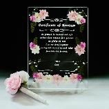 花*花Gluck(はなはなぐりゅっけ):【ネット注文】押し花のハンドメイドの結婚証明書&デコペン 小 ピンク