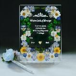 花*花Gluck(はなはなぐりゅっけ):【ネット注文】押し花のハンドメイドの結婚証明書&デコペン 小 ブルー