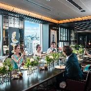TABLE 9 TOKYO:【30名までの少人数W】美食レストランで叶える挙式&会食会
