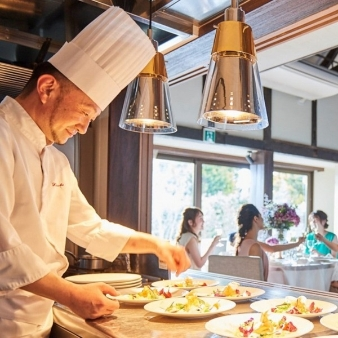 フェリヴェール サンシャイン:料理重視◎オープンキッチンから出来立て★とろ~り常陸牛試食会